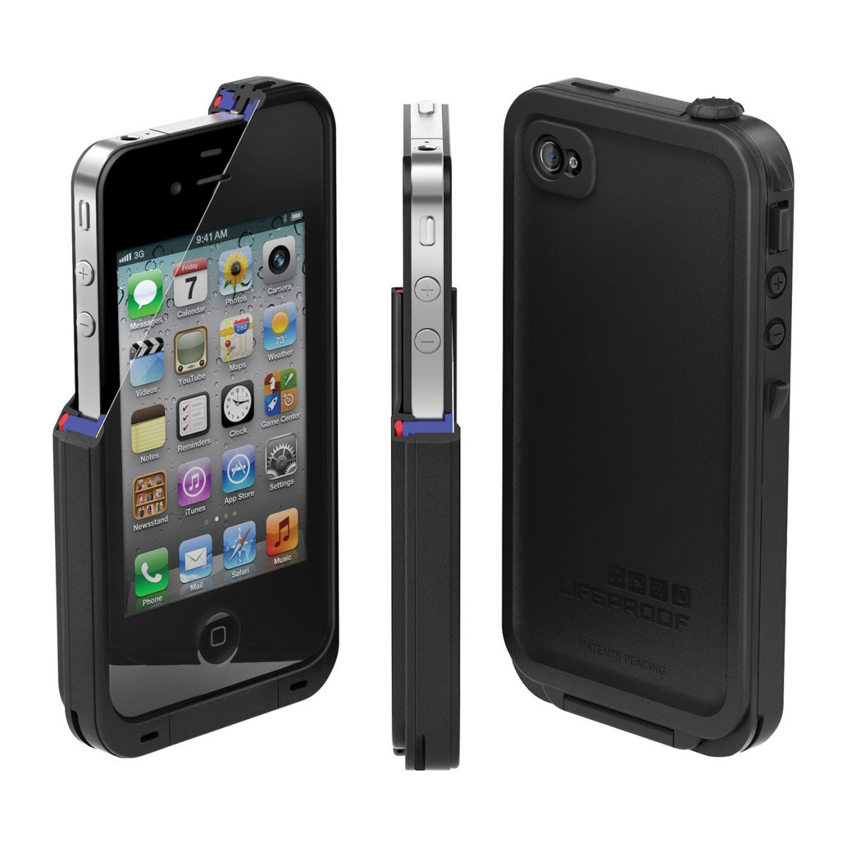 lifeproof iphone case new lifeproof iphone 4 4s black water snow dirt 12579